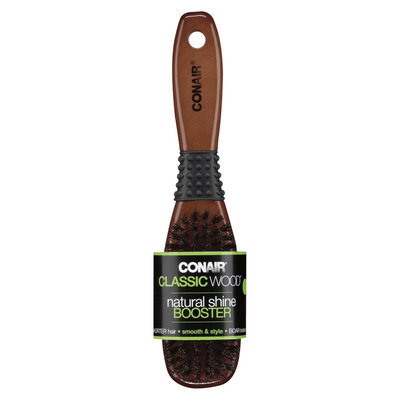 Conair Classic Wood Natural Shine Booster Hair Brush