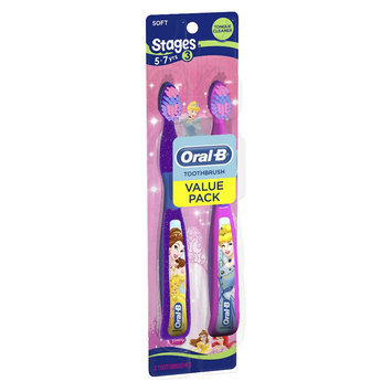 Oral-B Pro-Health Stages Disney Princess Manual Kid's Toothbrush Twin Pack