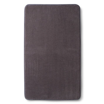 Mohawk Home Memory Foam Bath Rug- Elephant Gray (20x34
