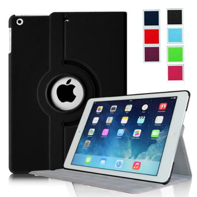 Fintie Ultra Slim 360 Degree Rotating Case Cover with Hard Shell for Apple iPad Air (iPad 5), Black