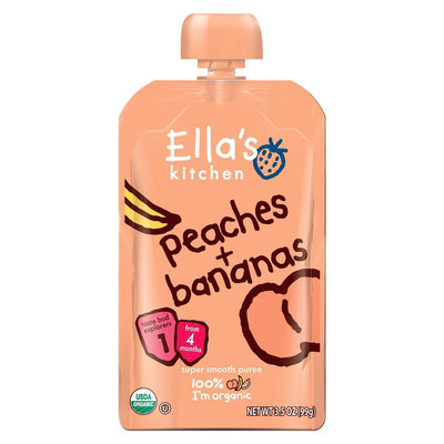 Ella's Kitchen Organic Pureed Baby Food Pouch - Stage 1 Peach Banana 3.5oz