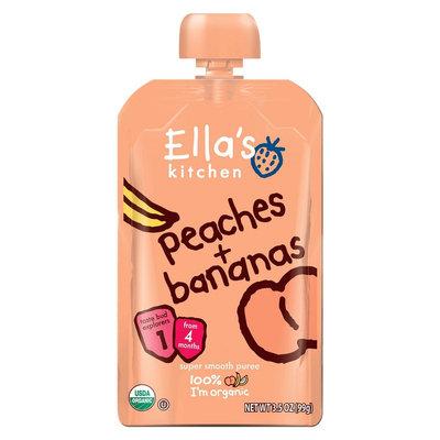 Ella's Kitchen Organic Pureed Baby Food Pouch - Stage 1 Peach Banana 3.5oz
