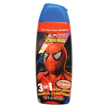 Spiderman 3 in 1 Body Wash Shampoo and Conditioner