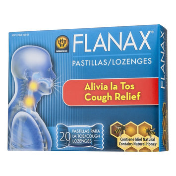 Midway Flanax Cough Lozenges with natural honey - 20 count