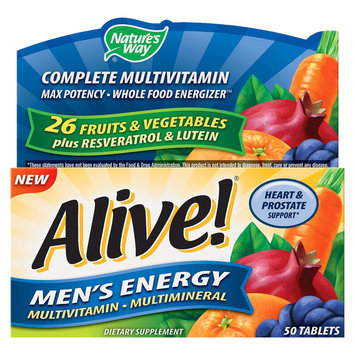 Alive! Men's Energy Multivitamin - 50 Count