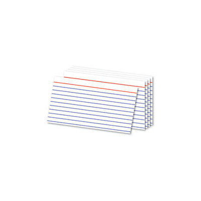Office Depot(R) Brand Ruled Index Cards, 3in. x 5in, White, Pack Of 300