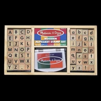 Melissa and Doug Alphabet Stamp Set Upper and Lower Case Ages 4+