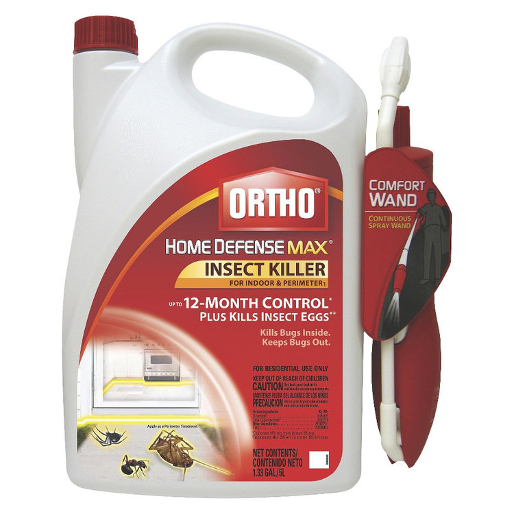 The Scotts Company Insect Killer: Ortho Home Defense MAX Indoor & Perimeter Insect Killer 1.1 Gallon Ready to Use Wand
