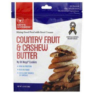 Katy's Goodness Country Fruit & Cashew Butter Cookies, 4.8 oz (Pack of 6)