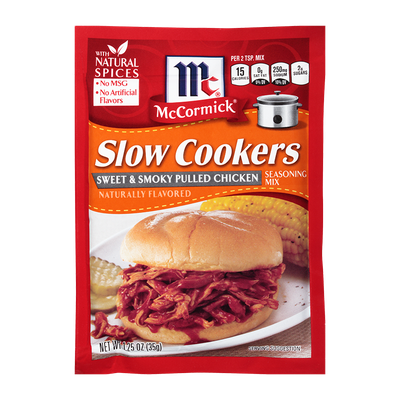 McCormick® Slow Cookers Sweet & Smoky Pulled Chicken Seasoning Mix