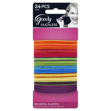 Goody Products Inc. Girls Elastics Color Piped Edging, 24 CT