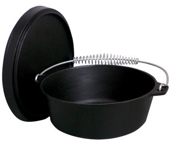 King Kooker 12 - qt. Cast Iron Dutch Oven with