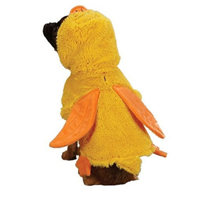 Zack & Zoey Polyester Quackers Duck Dog Costume, Small, 12-Inch, Yellow