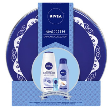 NIVEA Smooth Skincare Collection 3 Piece Gift Set with Keepsake Tin