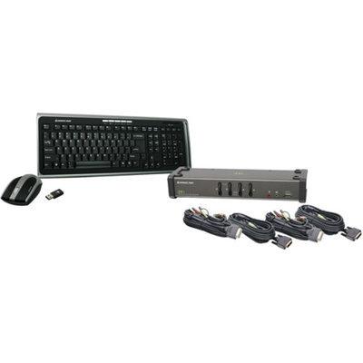 IOGEAR Iogear 4 Port DVI KVMP with cables and wireless keyboard / mouse combo
