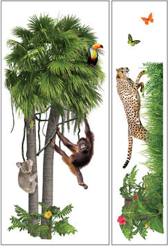 Paper House Productions, Inc Sticky Pix Removable & Repositionable Ultimate Wall Sticker Mini Mural Appliques - Zoo