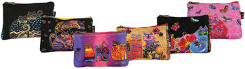 Laurel Burch Cosmetic Bag Zipper Top