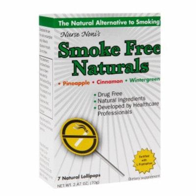 Smoke Free Naturals Natural Lollipops, Pineapple, Cinnamon & Wintergreen, 7 ea