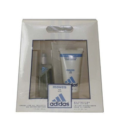 Adidas Moves By Adidas For Women Edt Spray 1 Oz & Body Lotion 2 Oz