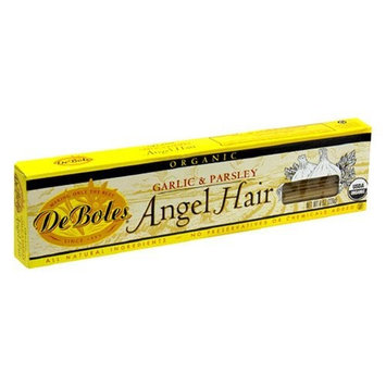 DeBoles Organic Angel Hair Pasta, Garlic & Parsley, 8 Ounce (Pack of 12)