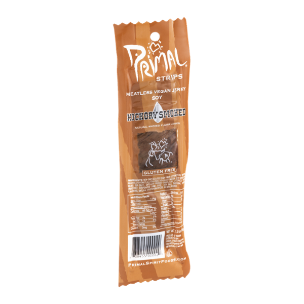 Primal Strips Meatless Vegan Jerky Soy Hickory Smoked