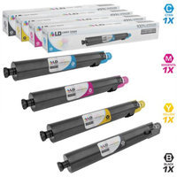 LD Compatible Replacements for Ricoh Set of 4 Laser Toner Cartridges Includes: 1 841679 (841751) Black, 1 841680 (841752) Yellow, 1 841681 (841753) Magenta, and 1 841682 (841754) Cyan