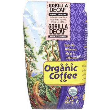 The Organic Coffee Co Whole Bean Coffee Gorilla Decaf -- 12 oz