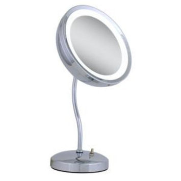 Zadro Lighted 6X S-Neck Vanity Mirror in Chrome-DISCONTINUED