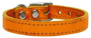 Ahi Plain Metallic Leather Metallic Orange 18