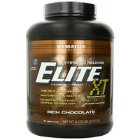 Dymatize Nutrition Elite 12-Hour Protein Powder, Rich Chocolate, 4.433 Pound