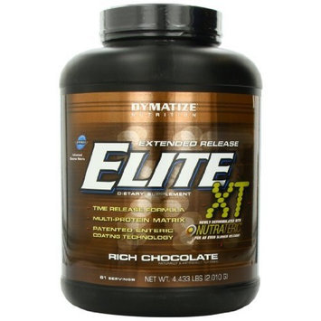 Dymatize Nutrition Elite 12-Hour Protein Powder, Rich Chocolate, 4.433 Pound