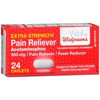 Walgreens Pain Reliever Extra Strength Caplets, 24 ea