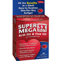 Super Mega 3x Omega-3 Krill Oil & Fish Oil Softgels