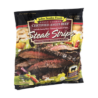 John Soules Foods Fully Cooked Certified Angus Beef Steak Strips