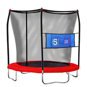 Skywalker Trampoline Skywalker Round Kids Trampoline Jump-N-Toss with Enclosure - 8'