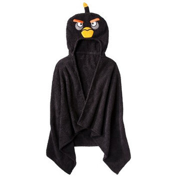Jay Franco & Sons Angry Birds Hooded Towel - Black (23x51