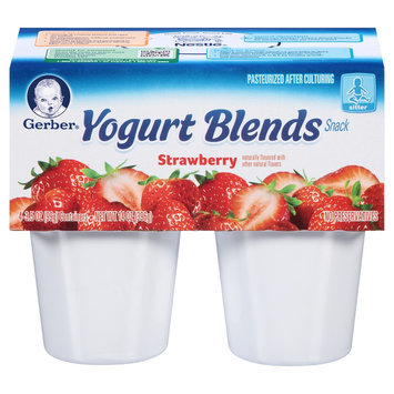 Nestlé' Usa Gerber Baby Yogurt Blends Simply Strawberry 3.5 oz 4 pk