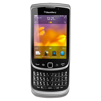 BlackBerry - Torch 9810 4G Mobile Phone - Silver (AT & T)