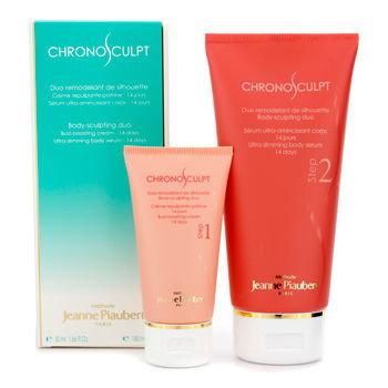 Methode Jeanne Piaubert Chronosculpt Body-Sculpting Duo: Bust-Boosting Cream (14 Days) + Ultra-Slimming Body Serum 2pcs