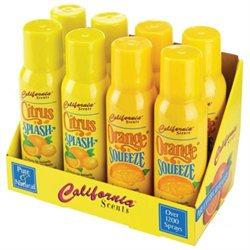 Calfornia Scents California Scents 8 Piece Display 4 Oz Citrus Splash 4 Oz Orange Squeeze Air F