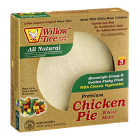 Willow Tree Premium Chicken Pie White Meat With Classic Vegetables