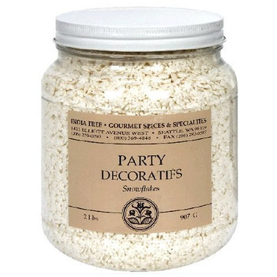 India Tree Nature's Colors Snowflakes Party Decoratifs, 32 oz
