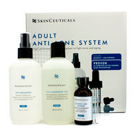 Skin Ceuticals Adult Anti-Acne System: Cleansing Gel 240ml + Toner 240ml + Acne Treatment 30ml 3pcs