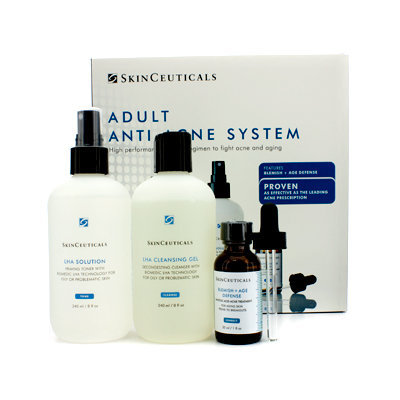 Skin Ceuticals Adult Anti-Acne System: Cleansing Gel 240ml + Toner 240ml + Acne Treatment 30ml 3pcs