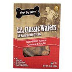 Three Dog Bakery 050011 Classic Wafers Oatmeal-Apple - 16Oz