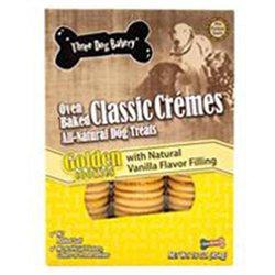 Three Dog Bakery 050006 Classic Cremes Golden Cookies Vinilla - 16 oz