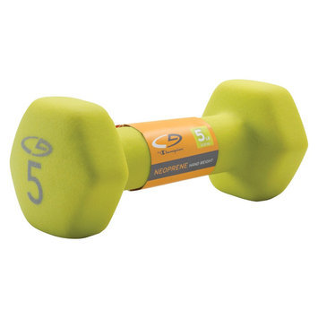 C9 Champion C9 Neoprene - Hand Weight - Basic Hex - 5lb - Hot Rod Lime