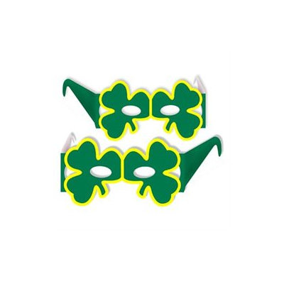 Beistle - 33612-50 - Shamrock Eyeglasses - Pack of 50