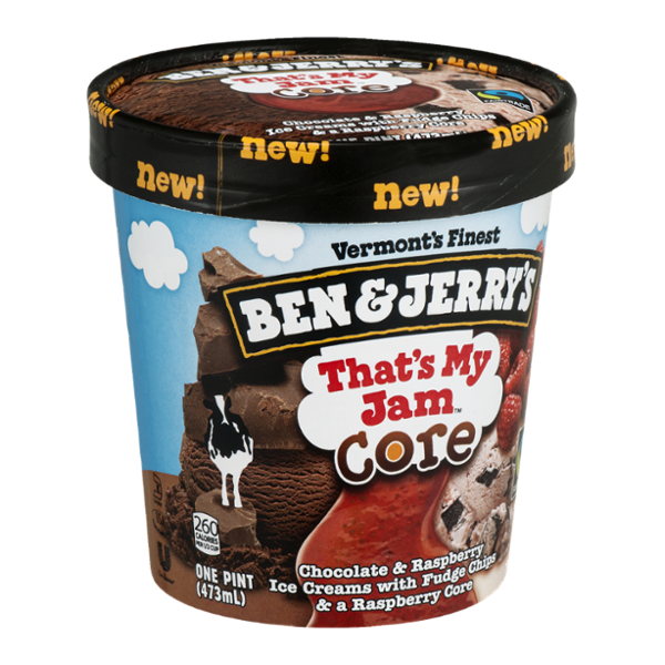 Ben & Jerry's® That's My Jam Core Ice Cream Chocolate & Raspberry