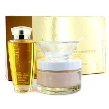J.F. Lazartigue Home Spa Essential Duo with Tea Oil: Essential Hair Cream 200ml + Serum 100ml 3pcs